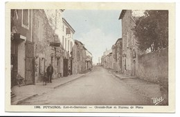 47-PUYMIROL-Grande Rue Et Bureau De Poste... 1953  Animé  Coiffeur - France