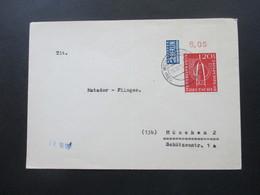 BRD 1955 Int. Briefmarkenausstellung Westropa Nr. 218 EF Vom Oberrand! Post Lichtspiele Weilheim OBB. - BRD