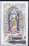 FRENCH ANDORRA, 2018, MNH, EUROPEAN YEAR OF CULTURAL HERITAGE, CHURCHES, SANTA COLOMA,  1v - Churches & Cathedrals