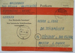 Britische Zone, Not-Ganzsache P 764 III 1945 Von Büsum Nach Stipsdorf (2775) - Bizone