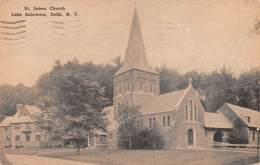 "M08605 ""ST. JAMES CHURCH-LAKE DELAWARE-DELHI-N.Y.""-CART. ORIG. SPED. 1948 - NY - New York"