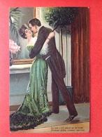 1907 - RELIEF - GAUFREE - LE SOIR S'EST ACHEVE EN UN AVEN. D'AMOUR FIDELE, D'AMOUR HEUREUX - Couples