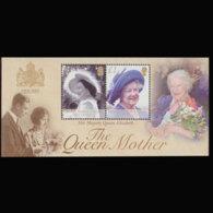 BR.I.O.T. 2002 - Scott# 247 S/S Queen Mother MNH - British Indian Ocean Territory (BIOT)