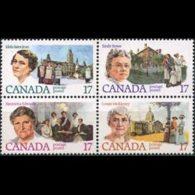 CANADA 1981 - Scott# 882a Famous Women Set Of 4 MNH - 1952-.... Reign Of Elizabeth II