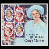 PALAU 2000 - Scott# 579 Sheet-Queen Mother MNH - Palau