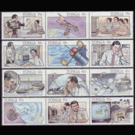 TONGA 1991 - Scott# 783-6 Telecom. Set Of 12 MNH - Tonga (1970-...)