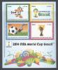 PERU, 2014 , MNH, BRAZIL WORLD CUP, SOCCER, S/SHEET - 2014 – Brazil