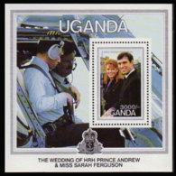 UGANDA 1986 - Scott# 513 S/S R.Wedd. MNH - Uganda (1962-...)
