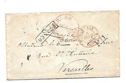 NLC046 / NIEDERLANDE - Amsterdam 1854 FRANCO (PD) Nach Versailles - ...-1852 Vorläufer