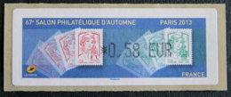 FRANCE - VIGNETTES ILLUSTREES - VIG 125 - SALON PHILATELIQUE D AUTOMNE - PARIS - 2010-... Illustrated Franking Labels