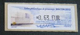 FRANCE - VIGNETTES ILLUSTREES - VIG 130 - SALON PHILATELIQUE DE PRINTEMPS - MACON - 2010-... Illustrated Franking Labels