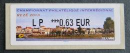 FRANCE - VIGNETTES ILLUSTREES - VIG 134 - 2013 - CHAMPIONNAT PHILATELIQUE INTERREGIONAL - REZE - 2010-... Illustrated Franking Labels