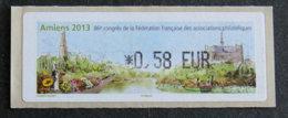 FRANCE - VIGNETTES ILLUSTREES - VIG 135 - 2013 - 86è CONGRES DES FFAP - AMIENS - 2010-... Illustrated Franking Labels