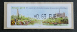 FRANCE - VIGNETTES ILLUSTREES - VIG 136 - 2013 - 86è CONGRES DES FFAP - AMIENS - 2010-... Illustrated Franking Labels