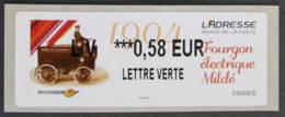 FRANCE - VIGNETTES ILLUSTREES - VIG 139 - 2013 - L' ADRESSE - FOURGON ELECTRIQUE MILDE - 2010-... Illustrated Franking Labels