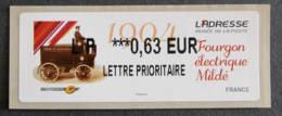FRANCE - VIGNETTES ILLUSTREES - VIG 140 - 2013 - L' ADRESSE - FOURGON ELECTRIQUE MILDE - 2010-... Illustrated Franking Labels