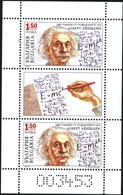 Mint  S/S Albert Einstein 2019 From Bulgaria - Albert Einstein