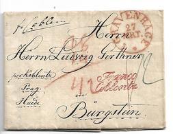 NLC047 / NIEDERLANDE - Gravenhage 1833  Nach Bürgstein) Böhmen)  Franco Coblentz - ...-1852 Vorläufer