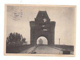 """CP (All.) Worms - Portail Du Pont - Griffe Linéaire D'arrivée """"Enghien-les-Bains"""" Sur Timbre De Franchise Militaire - Worms"""