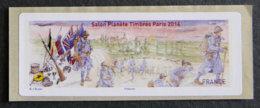 FRANCE - VIGNETTES ILLUSTREES - VIG 154 - 2014 - SALON PLANETE TIMBRES - PARIS - 2010-... Abgebildete Automatenmarke