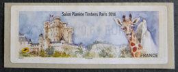 FRANCE - VIGNETTES ILLUSTREES - VIG 157 - 2014 - SALON PLANETE TIMBRES - PARIS - 2010-... Abgebildete Automatenmarke