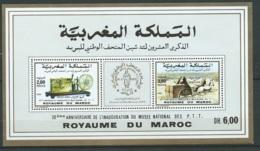 """Maroc,1990,bloc Feuillet,BF 19, """" 20ème Anniversaire De L'inauguration Du Musée Postal """" Neuf**,  AOA19201 - Marruecos (1956-...)"""