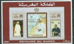 "Maroc,1991,bloc Feuillet,BF 20, "" 30ème Anniversaire De L'intronisation D'Hassan II "" Neuf**,  AOA19202 - Marruecos (1956-...)"