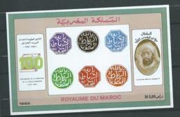 """Maroc ;1992, Bloc Feuillet ,BF 21 """" Centenaire De La Création De La Poste Maghzen """" Neuf**,  AOA19205 - Marruecos (1956-...)"""