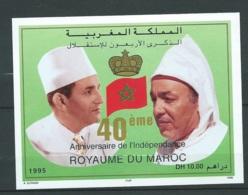 """Maroc ;1995, Bloc Feuillet ,BF 23 """" 40ème Anniversaire De L'indépendance """" Neuf**,  AOA19207 - Marruecos (1956-...)"""