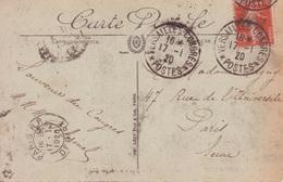 Semeuse 10c Oblitération Cachet Versailles-Congrès Postes Janvier 1920 + FLIER PARIS RP Départ En Arrivée BD Seul - Storia Postale