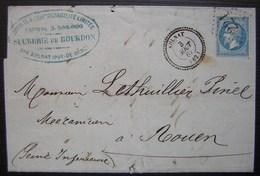 Aulnat 1867 Sucrerie De Bourdon (Puy De Dôme) Gc 221  Joli Cachet Bien Frappé - Marcophilie (Lettres)