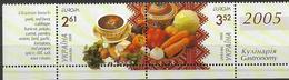 2005 Ukraine  Ukraina   Mi. 721-2 **MNH Booklet Set Europa: Gastronomie - 2005