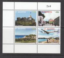 2012 St. Maarten Tourism Aviation Airplane Block Of 4 MNH @ BELOW FACE VALUE - Curaçao, Nederlandse Antillen, Aruba