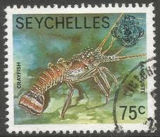 Seychelles. 1977 Marine Life. 75c Used. No Date Imprint SG 411A - Seychelles (1976-...)