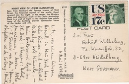 SCUL-L22 - ETATS-UNIS Carte Postale De Manhattan Pour Heidelberg 1974 - United States