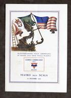 Teatro Scala - Manifestazione Italo Americana Onore Eroi Marina - 1918 Programma - Libros, Revistas, Cómics
