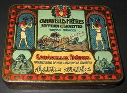 Caravellis Frères - Boîte 20 Cigarettes BOUQUET - Turkish Tobacco - Egyptian Cigarettes - 7 Scans - Tabaksdozen (leeg)