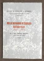 Note Funzionamento Dispensario Antitubercolare 1919-1932 - Alessandria - 1933 - Otros