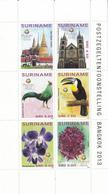 2013 Surinam Suriname Links With Thailand Flowers Birds  Miniature Sheet Of 6 MNH - Suriname