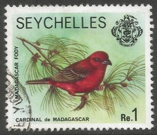 Seychelles. 1977 Marine Life. 1r Used. No Date Imprint SG 412A - Seychelles (1976-...)