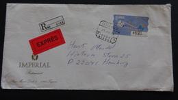 Spain - 1996 - Mi:ES AT12II, Yt:ES DI12C On Envelope - Registered Mail - Espres - Look Scan - 1991-00 Briefe U. Dokumente
