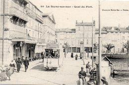 83 LA SEYNE SUR MER QUAI DU PORT ANIMEE TRAMWAY POUR LES SABLETTES - La Seyne-sur-Mer