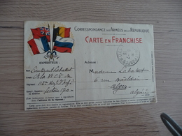 CPFM Carte Postale En Franchise Militaire Guerre 14/18 Drapeaux Trésors Et Postes 170 1915 - Cartes De Franchise Militaire