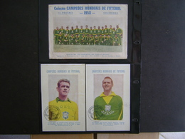BRAZIL - RARE 22 POSTCARDS MORE ENVELOPE OF 1958 WORLD SOCCER CHAMPION SELECTION IN THE STATE - Calcio