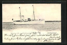 AK Passagierschiff Nordstjernan Fährt Küste Entlang - Steamers