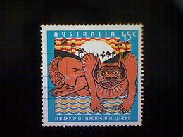 Australia, Scott #1376, Used(o), 1994, Bunyip Of Aboriginal Legend, 45c,  Orange, Yellow And Blue - 1990-99 Elizabeth II