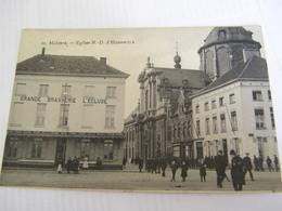 C.P.A.- Belgique - Malines - Eglise Notre Dame D'Hanswijck - Grande Brasserie L'Ecluse - 1920 - SUP (CL 94) - Mechelen