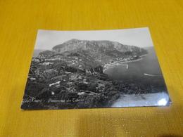 CARTOLINA CAPRI-PANORAMA DA TIBERIO-VIAGG.1957-VERA FOTOGRAFIA - Napoli