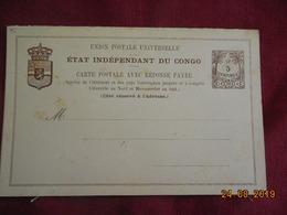 Entier Postal Du Congo Belge Avec Reponse Payé - Belgisch-Kongo