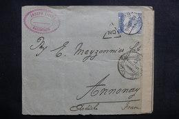 GRECE - Enveloppe De Salonique Pour La France Avec Contrôle Postal Militaire De L 'Armée D'Orient En 1917 - L 41062 - Grecia